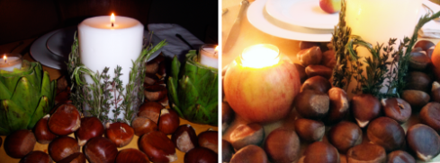 Apple Herb candles