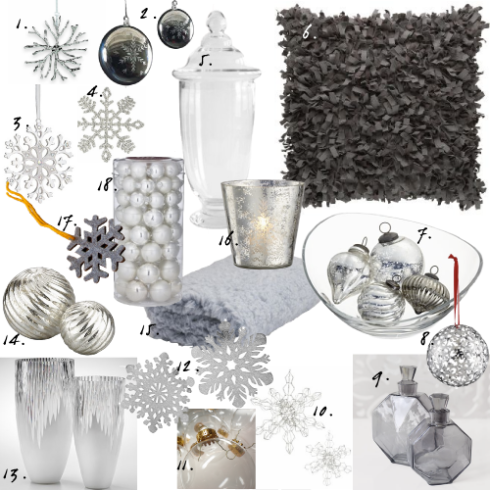 grey snowflake decor