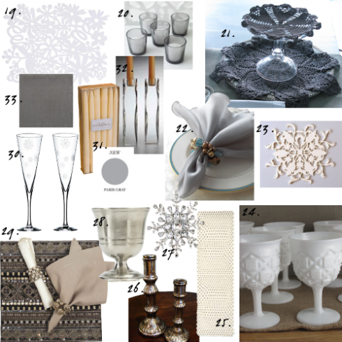 Grey Snowflake Table