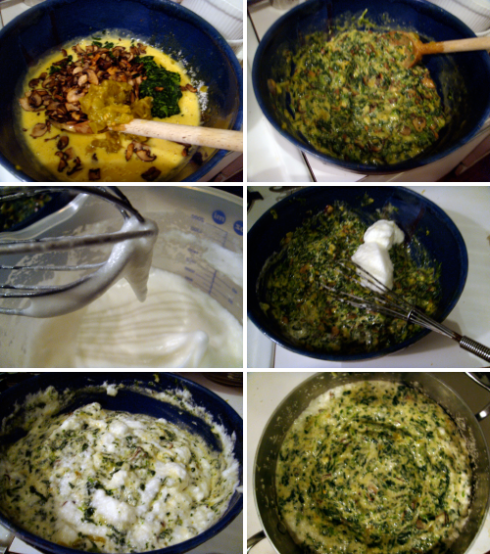 making spinach souffle