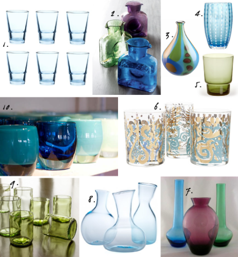 jeweltonedglassesandvases