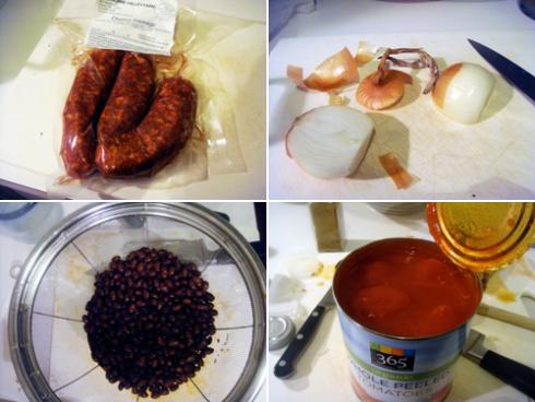 chorizo-blackbeans-tomato