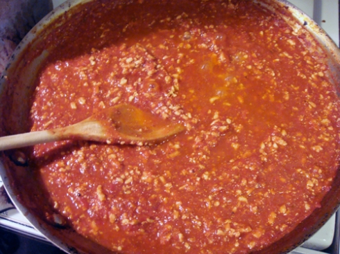 turkey tomato sauce for lasagna