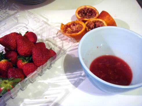 strawberry and orange