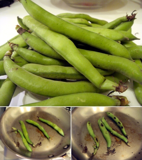 charring-fava-beans