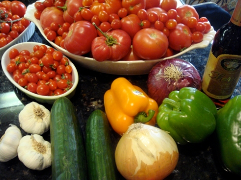 Summer bounty - ready for gazpacho