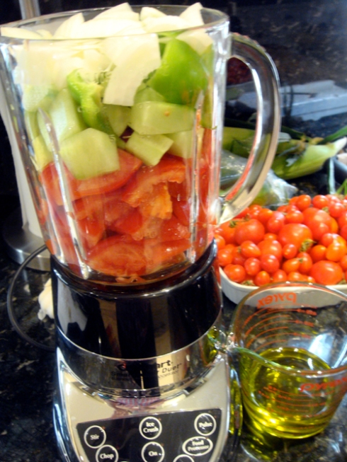 gazpacho in the blender