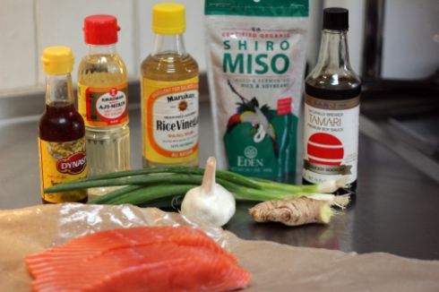 Ingredients for Miso Ginger Salmon