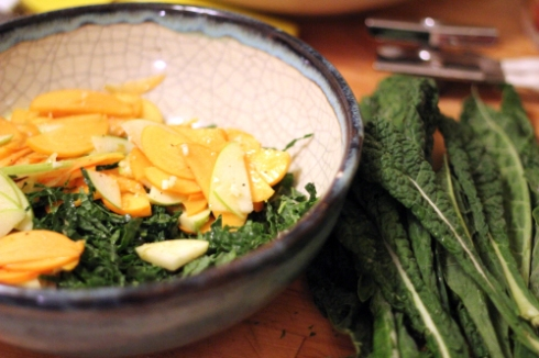 Kale, Persimmon & Apple Salad