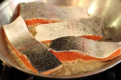 Searing steelhead trout