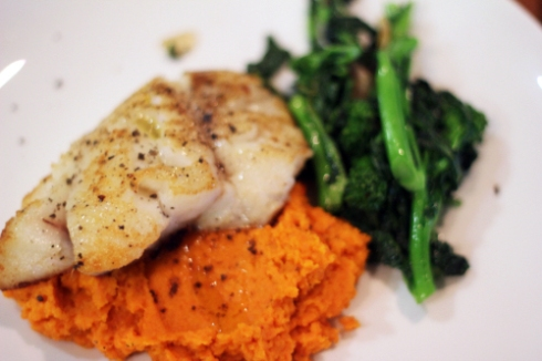 Pan-roasted Hake with Smoked Carrot Puree