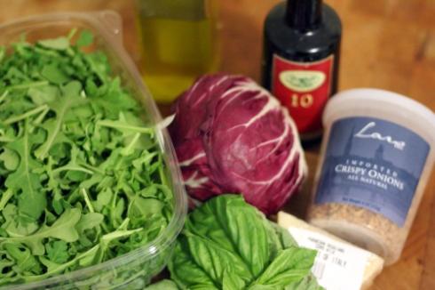 Shaved Radicchio + Arugula Salad