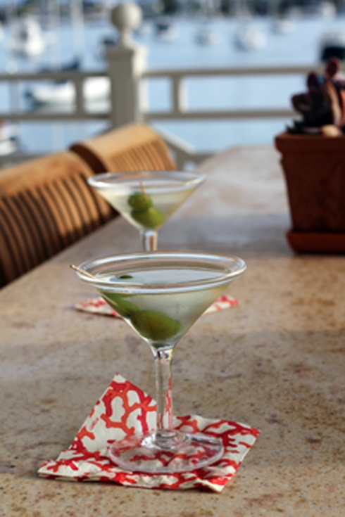 Martinis upon arrival