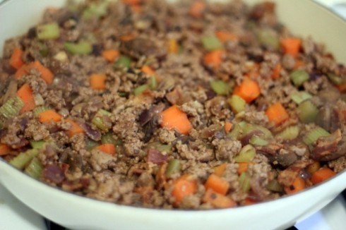 Meat, veg & bacon - for shepherd pie