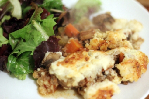 Shepherd's Pie & Salad