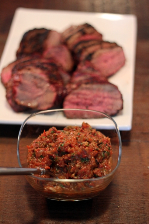 Tri-tip and fresh roasted salsa