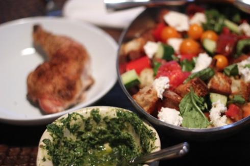 Chicken, Salsa Verde & Heirloom Panzanella