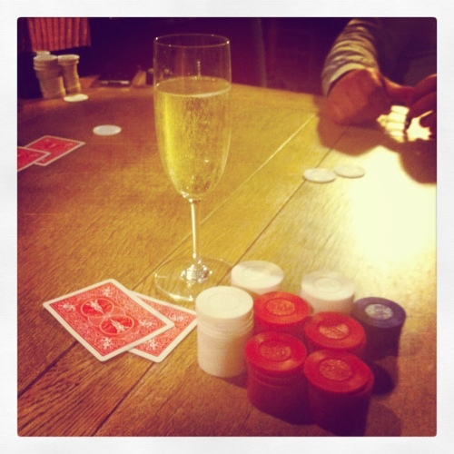 Champagne & Poker Chips