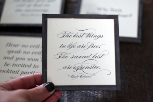 Coaster Quotes - Chanel