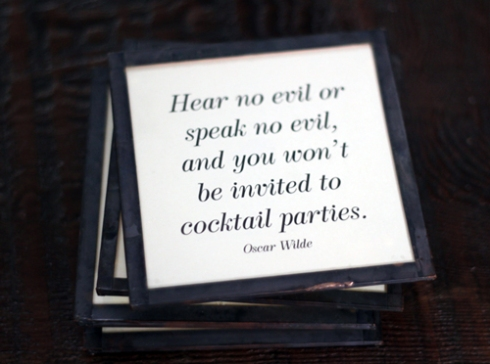 Coaster Quotes - Wilde