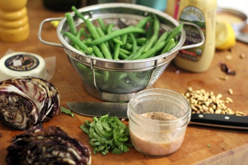 Grilled Radicchio and Green Bean Salad