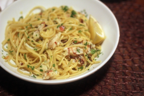 Spicy Linguine with Crab