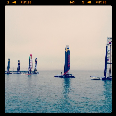 America's Cup in the early morning