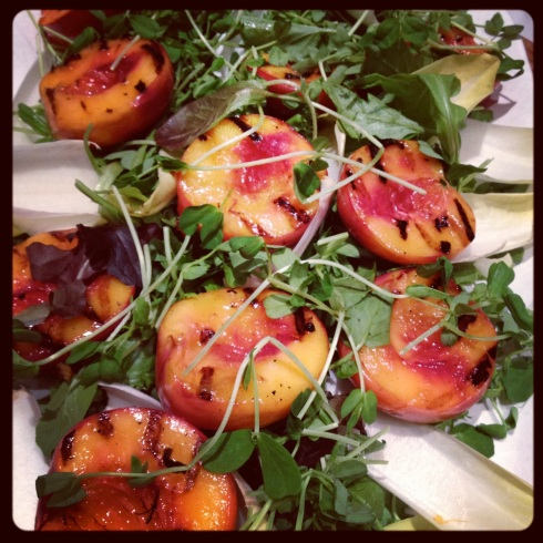 Grilled Peach Salad with Orange Blossom Water