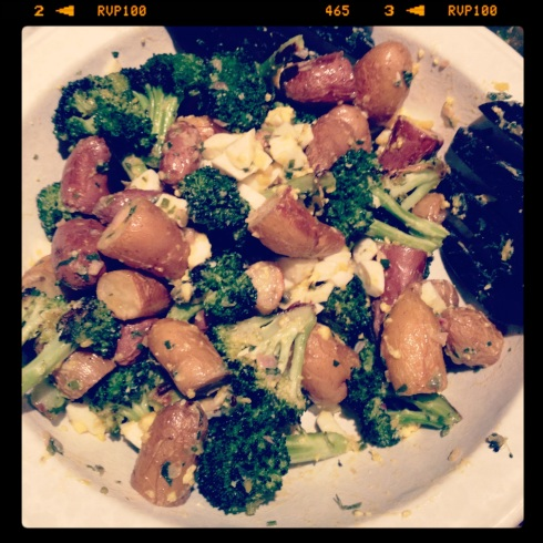 Roast Potatoes and Broccoli Gribiche